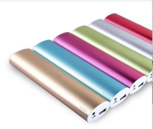 Good Quality 18650 Battery Colorful Famous Brand Mobile Metal Power Bank 10400mAh pictures & photos