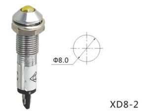 Hot Sale LED Indicator Light, Pilot Lamp 220V (XD8-2) pictures & photos