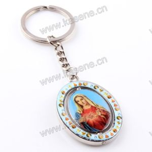 Hot Sale Alloy Saint Image Pendant Religious Key Ring