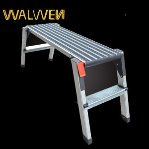 Top Quality Folding Agility Working Platform Ladder pictures & photos