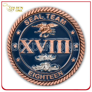 Custom High Quality Copper Plated 3D Army Coin pictures & photos