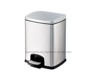 New Design Stainless Steel Pedal Bin for Hotel pictures & photos