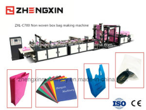 Non Woven Promotional Box Bag Making Machine (ZXL-C700) pictures & photos