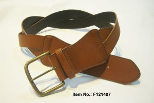 Twist Style Brown PU Belt pictures & photos