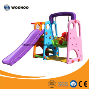 Kids Play Set Outdoor Amusement Park Plastic Slide and Swing for Sale
