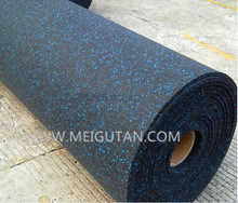 Black with EPDM Fleck Rubber Flooring Rubber Mat