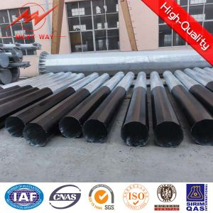 11m 15m Hot DIP Galvanized Steel Pole pictures & photos