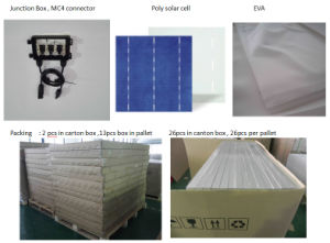 China Factory Poly PV Solar Cell Panel 200W for Home Equipment pictures & photos