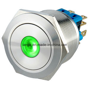 25mm Latching 2no2nc Waterproof Electrical Push Button Switch, Push Button Switch pictures & photos
