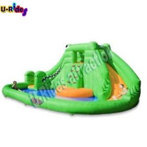 Home Use Green Dragon Inflatable Water Toy Water Slide Inflatable Slide for Backyard pictures & photos