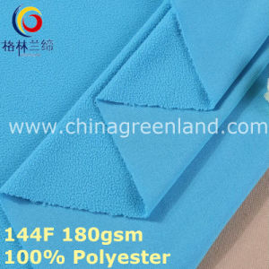 Weft Knitted Polyester Polar Fleece Fabric for Clothes (GLLML382) pictures & photos