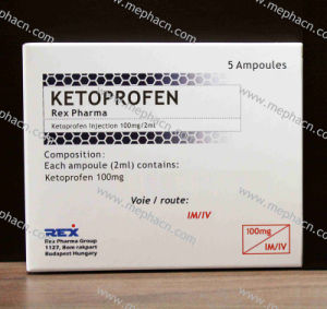 Ketoprofen Injection 100mg/2ml, Ketoprofen for Injection pictures & photos