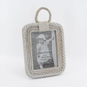 Pastoralism Hemp Rope Wooden Picture Frame for Home Deco pictures & photos