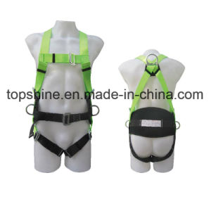 China Industrial Polyester Work Full-Body Adjustable Safety Harness Belt pictures & photos