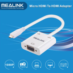 Mirco HDMI to VGA Audio Cable Adapter pictures & photos