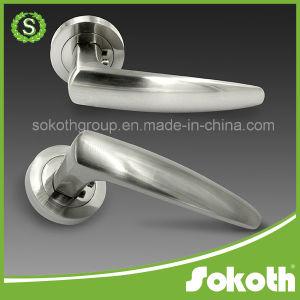 Satin Nickel Door Lock Door Handle pictures & photos