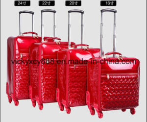 PU Leather Wheeled Trolley Luggage Suitcase Case Bag (CY3568) pictures & photos