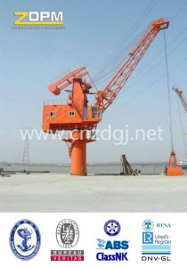 Fixed Base 360degree Slewing Crane Port Equipment pictures & photos