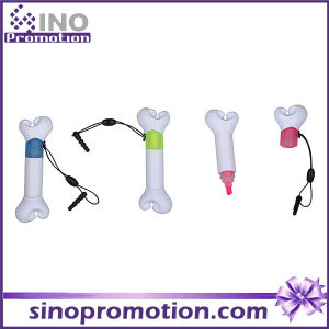 Bone Shape Plastic Dust Plug with Highlighter as Promotional Gift pictures & photos