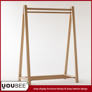 Simple Wooden Garment Display Stand, Clothes Display Rack for Shop pictures & photos