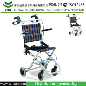Ultralight Folding Airplane Attendant Aisle Wheelchair pictures & photos