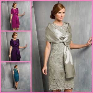 Free Shawl Party Cocktail Formal Gown Lace Mother′s Short Evening Dress T13381 pictures & photos