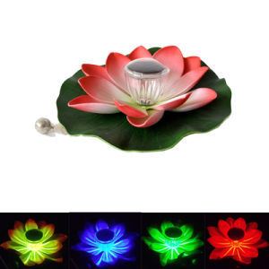 Color Changing Solar Floating Lotus Light Lotus Floating Solar Light pictures & photos