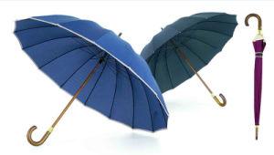 16 Ribs Stick Manual Straight/Promotion/Edge Wooden Umbrella (YS-SM25163416R)