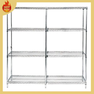4 Layers Stainless Steel Storage Wire Shelving Rack pictures & photos