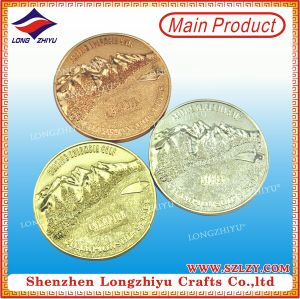 3D Mountain Rose Gold Special Die Casting Zinc Alloy Coin pictures & photos