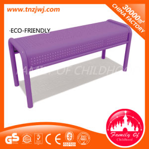 European Style Commercial Long Chair Metal Mesh Bench for Garden pictures & photos