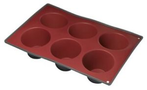 Two Color Silicone 6 Cup Deep Muffin Pan & Cake Mould &Bakeware FDA/LFGB (SY1902) pictures & photos