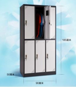 Cheap Steel Clothes Wardrobe with 6 Doors pictures & photos