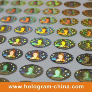 Custom Golden Laser Security Hologram Label pictures & photos