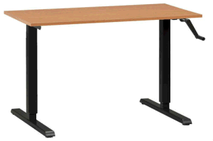 Hand Cranked Height Adjustable Office Table (LDG-CD203) pictures & photos