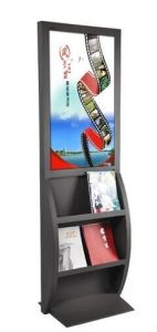 Acrylic Stainless Steel Pained POS Shelf Floor Display Stand pictures & photos