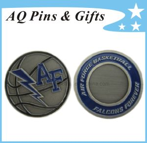 Challenge Coin with Soft Enamel in Antique Silver pictures & photos