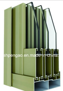 Luxury Mansion Multiwall Galss Window Aluminum Profile