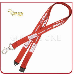 Hot Selling Promotional Gift Silk Screen Printed Polyester Fabric Lanyard pictures & photos