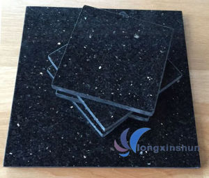 Customized Polished Black Galaxy Flooring Tile pictures & photos
