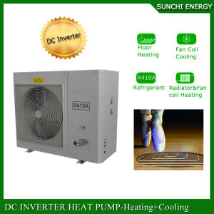 Slovenia/Czech -25c Winter Floor Heating 100~500sq Meter Room 12kw/19kw/35kw Auto-Defrost Evi DC Inverter Heat Pump Air Water pictures & photos