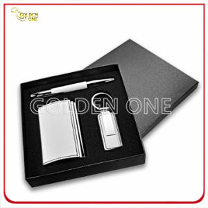 Polished Plating Metal Card Holder and Keychain Gift Set pictures & photos
