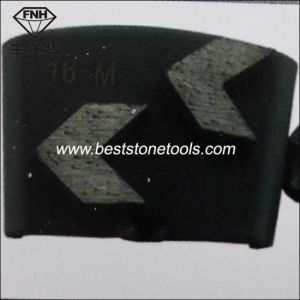Two Arrow Metal Segment Diamond Tool for Concrete Surface Grinding