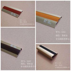 LGA Series Multifunction Rubber Slip-Proof Aluminum Flooring Profiles pictures & photos