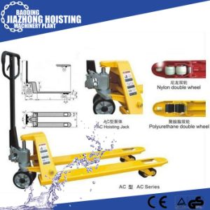 Hydraulic Pump Hand Pallet Truck ISO CE TUV Certificate