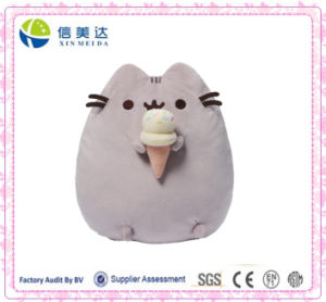Cute Soft Cuddly Pusheen Plush Cat with Cookie Pillow Toy pictures & photos