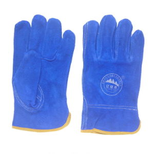 Ab Grade Cow Split Leather Safety Working Drivers Gloves for Driving pictures & photos