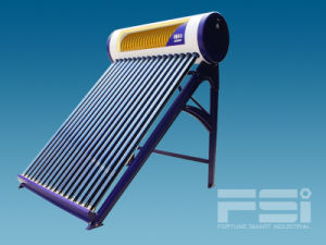 Medium-Pressurized Coiling Copper Finned Tube Solar Water Heater 802 pictures & photos
