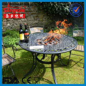 Hot Selling Cast Aluminum Fire Pit with BBQ Grill (SP-FT080) pictures & photos