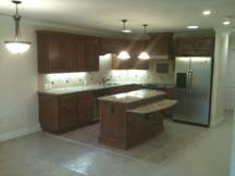2014 Walnut Solid Wood Base Kitchen Cabinets Kc019 pictures & photos